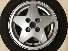 "GENUINE FORD FIESTA MK5 XR3i 14"" SPARE ALLOY WHEEL & 7MM PIRELLI TYRE 92AB-AA"