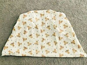 VTG Honors Baby TEDDY BEDDY BEAR Fitted Crib BABY Sheet Stars Clouds Cotton USA