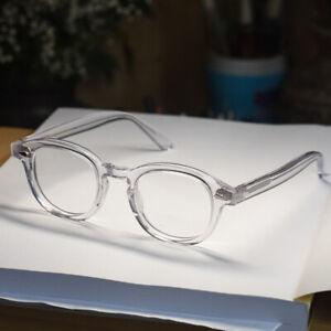 Retro Johnny Depp eyeglasses crystal clear glasses mens RX lens eyewear unisex