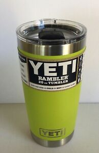CHARTREUSE YETI 20 oz Rambler Tumbler Cup MAGSLIDER LID LImited Edition Yellow
