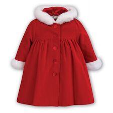 Designer Sarah Louise Girls Red Faux Fur Trim Coat Age 3 Years RRP £105 NEW