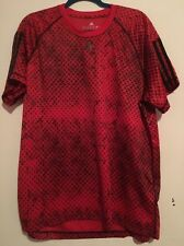 Adidas Printed Base T-shirt Size Xl Red Polyester