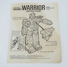 VOLTRON I AIR WARRIOR - VINTAGE 1984 MATCHBOX ACTION FIGURE INSTRUCTION SHEET