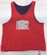 Vtg 90s Nike Force reversible jersey men sz M red/navy robinson barkley nba