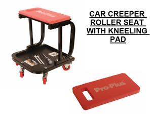 Mechanics Creeper Trolley Seat Car Garage Work Stool 5 Swivel Wheels & EVA PAD