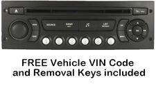 Genuine Citroen C3 RD4 Picasso MP3 CD Player Radio +VIN & Parking Sensor Coding