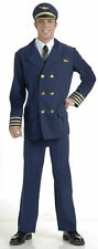 Airline Pilot Adult Halloween Costume Men Standard Mile High Club Navy Blue Suit