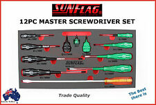 SCREWDRIVER SET SUNFLAG JAPAN 12PC MASTER TRADE QUALITY BEST THERE IS!