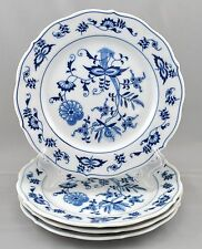 4 Blue Danube Japan Bread Butter Plates Blue Onion Pattern Rectangle Mark