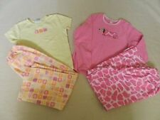 Lot of 2 Girls Carters 2 Piece Pajamas Size 10 EUC Flannel Pants Retail $32 each