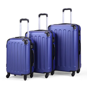 """3 Pieces Luggage Set Durable Travel Suitcase with Spinner Wheels 20"""" 24"""" 28"""""""