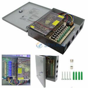 POWER SUPPLY Box FOR CCTV CAMERAS LED Strip Pixel 12V 5A 10A 20A 30A 4/9/18 Port