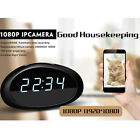 HD 1080P Spy wifi Hidden IP Clock Camera IR Night Cam Security Video Recorder DV