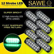 8 x Green 12 LED Car Truck Emergency Beacon Warning Hazard Flash Strobe Light