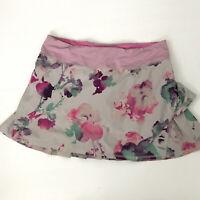 LULULEMON Purple Pink Floral PACE SETTER Skirt Skort Blurred Blossom Womens Sz 6