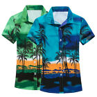 Mens Short Sleeve Casual Shirt Men's Beach Hawaii Shirts Floral Tee Shirt pop
