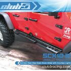 Stainless Step Down Rock-Slider w/ Courtesy Lights for SCX10 III JT Gladiator