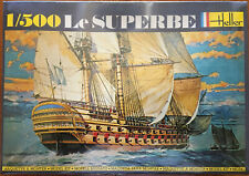 Heller Le SUPERBE 1/500 74 gun ship of the line plastic kit factory sealed
