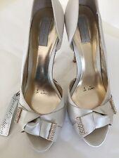 New Womens Bridal / Wedding Ivory Satin Shoes - Size 8