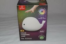 Wally Whale White Multi-Color Changing Integrated LED Night Light TikTok WoW!