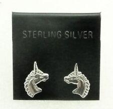Unicorn Sterling Silver Earrings for Pierced-ear by SmithSilver