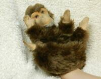 MOHAIR AND FELT 1950s MONKEY HAND GLOVE PUPPET GLASS EYES NO IDs STEIFF SCHUCO