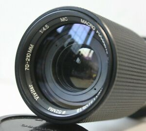 Vivitar 70-210mm f4.5 Telephoto Manual Zoom Macro Lens.Olympus OM Mount OM1,OM10