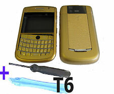 For Blackberry 9630 Tour Housing Keypad Fascia Cover Keypad  + Tools Gold UK