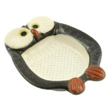 Japanese Ceramic Midnight Owl Ginger Garlic Cheese Radish Grater Made in Japan