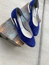 2acf0535 Tamaris Women's Sandals Shoes 40 Blue Suede Flats Open Sides Pointe Shoes  Touch