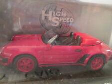 MODEL COLLECTION RED 1988 PORSCHE 911 CARRERA SPEEDSTER 1/43 SCALE