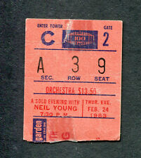 1983 Neil Young concert ticket stub Madison Square Garden Everybody's Rockin