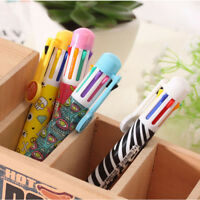 Office School Chunky Korean 8 In 1 Color Ballpoint Pen Cute Stationery