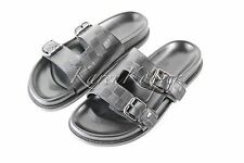 LOUIS VUITTON MEN POWELL DAMIER INFINI LEATHER MULE SLIDE SANDALS SHOES US 8.5