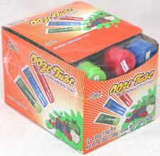 Ooze Tubes Candy by Kidsmania Blue Raspberry Apple Cherry Bulk Box of 12 Tubes