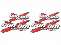 CAN-AM Team-X Logo / RED / 4 Pack Vinyl Graphic Recreational Decal Stickers