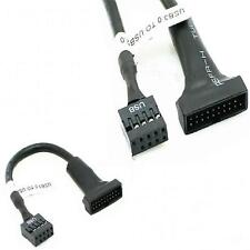 USB 3.0 20Pin Motherboard Female to 9Pin USB 2.0 Housing Male Adapter Cable GT