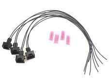 4x Stecker Kabelsatz Einspritzdüse Einspritzventil Bosch EV1 mit Silikonkabel