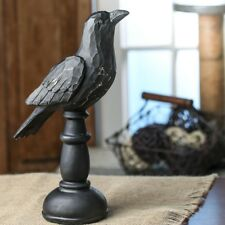 Country Primitive Faux Wood Carved Crow