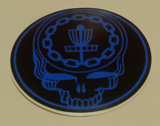 "~New-4"" Disc Golf Sticker-Steel Your Chains-Blue & Black~"