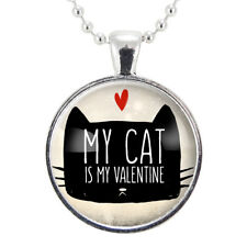 Anti Valentine's Day Necklace, My Cat Is My Valentine Pendant, Valentine's Day G