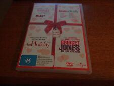 BRIDGET JONES DIARY + LOVE ACTUALLY + THE HOLIDAY AND EDGE OF REASON DVD