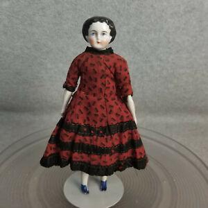 "8"" antique German China Shoulder Head Doll 1880s Dollhouse Size for Restoration"