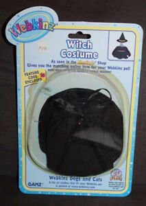Packaged VTG Webkinz Dog And Cats WITCH COSTUME
