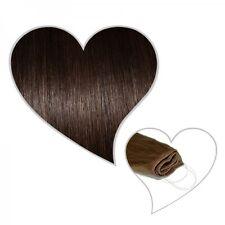 Easy Flip Extensions in dunkelbraun#02 60 cm 130 Gramm Echthaar Your Hair Secret