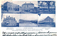 White River Junction,VT,6 Views,Depot,Bank,Schools,Windsor County,Used,1906