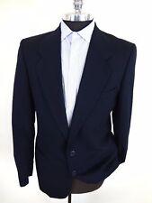 VTG YSL Yves Saint Laurent Mens Blazer XL Pure Wool Measurements Dark Blue Holes