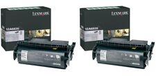 2 New Genuine Lexmark 12A6835 Laser Toner Cartridges T520 equal to 12A6735 NO BX