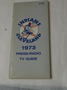 1973 Cleveland Indians Media-Press-Radio TV Guide Yearbook Program 96 pages