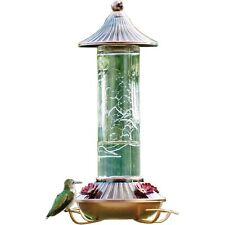 Embossed Glass Hummingbird Feeder